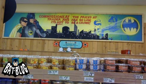 Mural that used to be on display at the Culver City Trader Joe's, my regular store when I lived in LA. (Thank you Bat-Blog.com, where this picture was posted.)