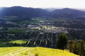 The view of the valley from atop the 'M'.